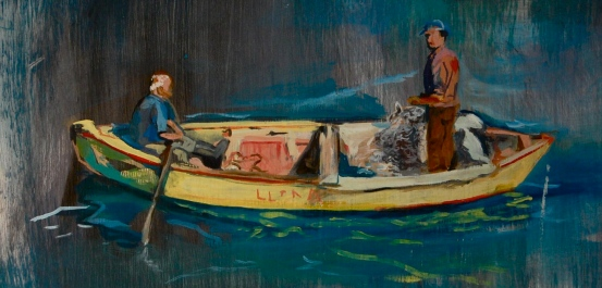 Chilean Fisherman, Oil and Acrylic on panel, 2009