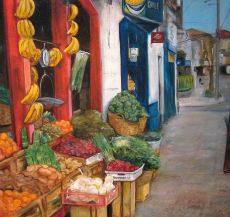 Fruteria Diego Portales, Oil on panel, 2010