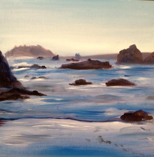 California Coast, Oil on panel, 2012