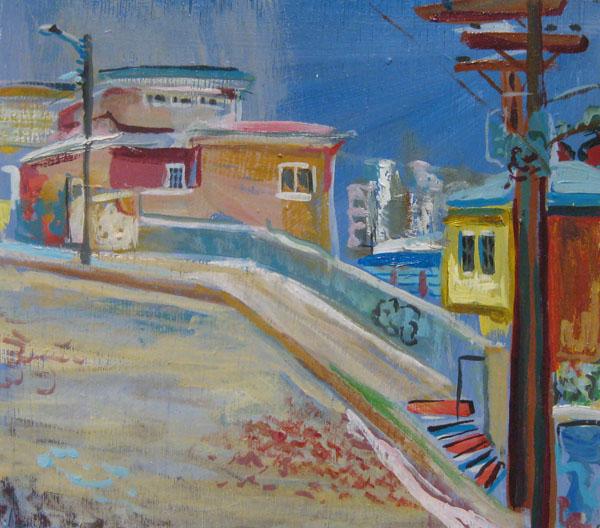Valparaíso, Oil on panel, 2010