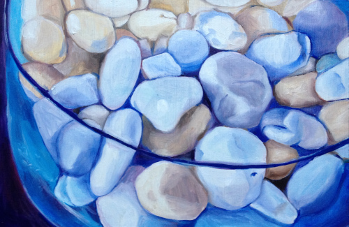 Debbie's Stones, Oil on panel, 2012
