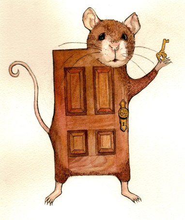 Doormouse, Ink and gouache on paper, 2013